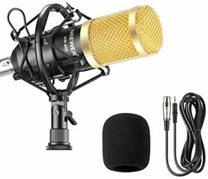 Neewer microphone black NW-800 condenser set studio broadcast recor... fromJAPAN