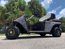 CUSTOM GAS Ezgo txt 2 passenger seat golf cart led lights radio