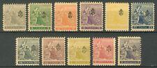 SERBIA KINGDOM 1911 - NEWSPAPER ISSUE overprints 'Troicki Sabor' MI. 107/117 MH