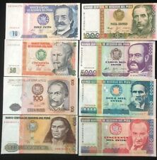 Banco Central De Reserva Del Peru Bank Note Money Intis 1987 1988 10 - 50000 Lt2
