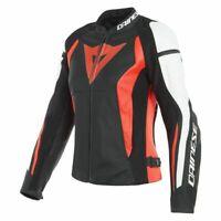 New Dainese Nexus Leather Jacket Women's EU 44 Black/Red/White #2533816W1244