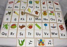 Vintage 1974 Judy Company Educational Alphabet Wood Dominoes Home School