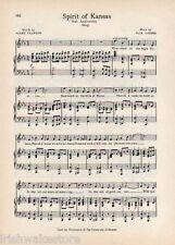"UNIVERSITY OF KANSAS 75th Anniversary Song c1941 ""Spirit of Kansas"" - Original"