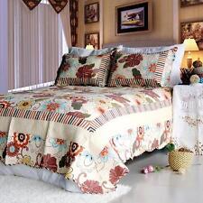 3 Pc Shaine Floral Patchwork Multicolor 100% Cotton Vermicelli Queen Quilt Shams