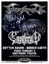 Finntroll / Ensiferum 2011 Portland Concert Tour Poster-Swedish Metal Rock Music