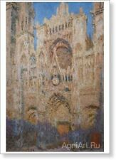 "Claude Oscar Monet Rouen Cathedral at Sunset Fine Art Print NEW 20"" x 28"""