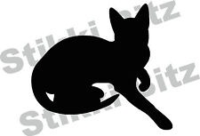 Sitting Cat Silhouette Car Window Camper Van Wall Decorative Stickers Decal CA10