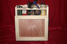 Wooden shelf & cupboard. Wall storage unit, kitchen, boat galley, cup, book rack