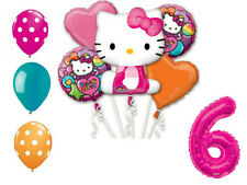 Hello Kitty Balloon Bouquet 6th Birthday Party Supplies Decoration Balloons