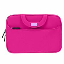 Hpt Pink Handle Neoprene Sleeve w/ Front Pocket 2-in-1 Tablet Laptop Case Cover