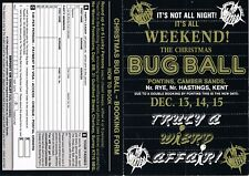 CHRISTMAS BUG BALL Rave Flyer Flyers 13/12/91 A6 Pontins Camber Sands Near Rye
