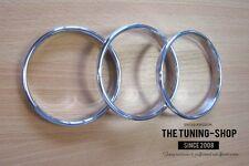 Pour Classique Mini Cooper Chrome Anneaux Aluminium Cerclages De Compteur 3 pcs