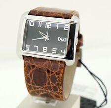 D&G time Crocodile 3719240239 reloj watch fashion steel leather