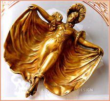 Jugendstil Bronze Fledermaus Figurenschale  Dame  Floral  Wiener Bronze  1900