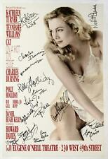 CAT ON A HOT TIN ROOF Cast Kathleen Turner, Charles Durning Signed Poster