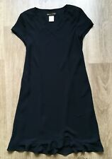 Women's DONNA RICCO New York Black Short Sleeve Lined Dress, Size 12, VGC !