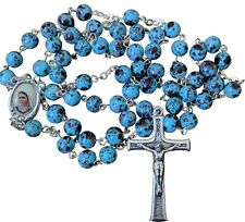 Woman Rosary Blue Multi Color Rosaries from Medjugorje + GIFT BAG