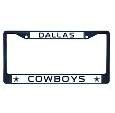 Dallas Cowboys Navy Blue Colored Chrome Metal License Plate Frame