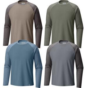 "New Mens Columbia ""Thistletown Park"" Raglan Long Sleeve Crew Neck Shirt Tee"