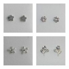 Cubic Zirconia Butterfly Stud Unbranded Costume Earrings