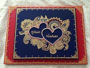Islamic Canvas Hand Painted Arabic Calligraphy- Wedding-engagement- gift Canvas