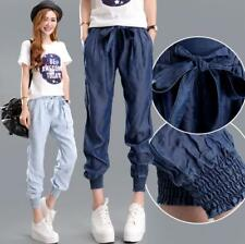 Womens High Waist Casual Jeans Harem Pants Slim Fit Trousers Summer Girls Thin