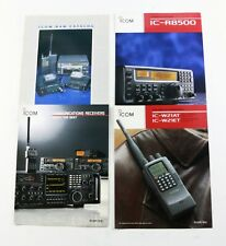 BROCHURE: ICOM  IC-R8500 IC-W21AT and Communications Receivers - Lot of 4