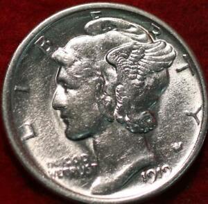 Uncirculated 1919 Philadelphia Mint Silver Mercury Dime