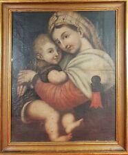 MATERNITÉ HUILE SUR TOILE. ÉCOLE ITALIENNE SIGLO XVII-XVIII.
