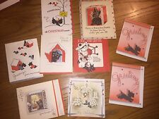 Christmas cards pre 1946 for sale ebay lot of 9 vintage scottish terrier greeting cards christmas new years m4hsunfo