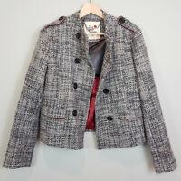 PEPE JEANS | Womens Tweed Blazer / Jacket [ Size L or AU 14 or US 10 ]