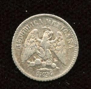1894 Mexico Silver 5 Five Centavos