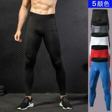 Men Sport Pants Tight Elastic Trousers Compress Running Fitness Outdoor Exercise