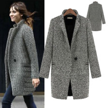 British Women's Winter Fall Casual Business Jacket Oversized Fashion Jacket Coat