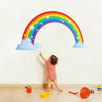 Sparkling Rainbow Vinyl Wall Decal Nursery Kids Baby Room Decor Art Sticker