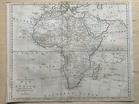 1779 Continent of Africa  Original Antique Map by Thomas Bowen 241 Years Old