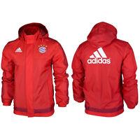 Adidas Offizielle FC Bayern München Herren Regenjacke Trainingsjacke Fußball XS