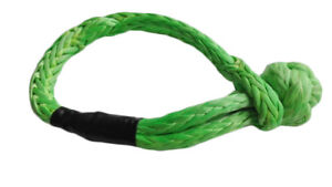 """Green 11mm*155mm Soft ShackleS,7/16""""*6.1inch ATV Winch Shackle,Synthetic Shackle"""