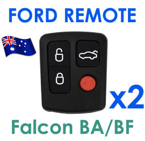 FOR 2 x Ford BA BF Falcon Sedan/Wagon Keyless Car Remote 4 Button Keypad