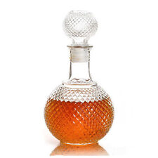 Crystal Whiskey Wine Shot Glass Bottle With Cap Stopper Bar Decanter 250ml DI