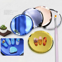 KM_ PW_ Nail Art Color Palette False Tips Mirror Glass Display Board Manicure