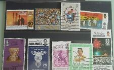 BRUNEI STAMPS 9 MISC SELECTION-  USED -HINGED..COLLECTION BREAK UP