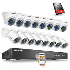 ANNKE 3MP 16CH H.264+ DVR 4TB HDD 16x2MP Outdoor Home Security Camera System APP