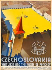 Czechoslovakia Czech Republic Europe European Advertisement Travel Art Poster