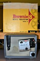 Vintage Kodak Brownie 8 mm Film Projector Model 10, for Parts with Original Box