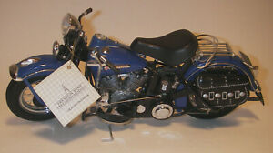 Harley-Davidson Franklin Mint Blue 1948 Panhead 1:10 Scale Precision Model