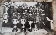 1935 Unused Postcard of the Bluenose Crew and Trophies, Nova Scotia