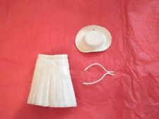 Marx Johnny West Series - White Hat, White Necktie,White Skirt ,Lot B- 04
