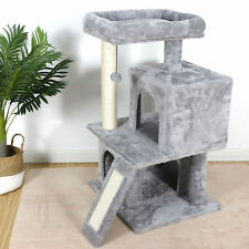 "34"" Sturdy Cat Tree Tower Activity Center Large Playing House Condo For Rest & S"