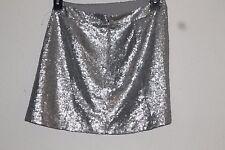 M decree silver sequined mini skirt
